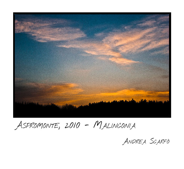 2010, aspromonte - malinconia