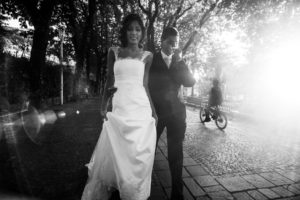 street photo wedding
